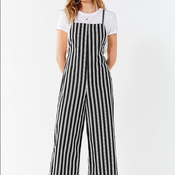 Urban Outfitters Pants Square Neck Striped Jumpsuit Poshmark